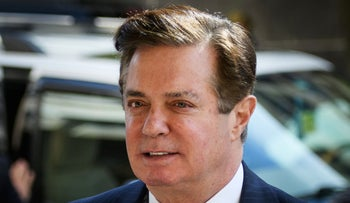 This June 15, 2018 file photo shows Paul Manafort, Donald Trump's former campaign chief, arriving for a hearing at US District Court in Washington, DC.