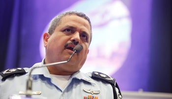 Police Commissioner Roni Alsheich speaks at Tel Aviv University.