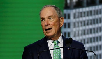 Michael Bloomberg speaks during the plenary session of the Global Action Climate Summit, San Francisco, September 13, 2018.