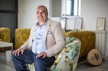 Ramadan Dabbash at his home in East Jerusalem's Sur Baher