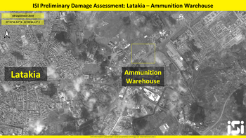 Satellite images show damage caused by alleged Israeli strike on a weapons depot near the airport in Damascus.