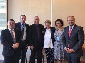 Representatives from the Arab community in Israel with Kate Gilmore, the UN deputy commissioner for human rights, September 19, 2018.