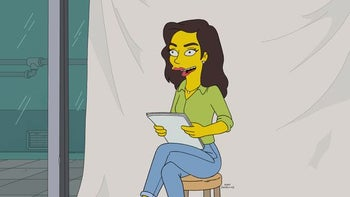 'Gal Gadot' in her appearance on 'The Simpsons'