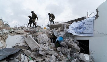 The demolition of the homes of the men who carried out terror attacks in Jerusalem and at Ofra Junction, August 2017.