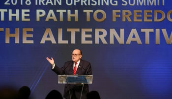 Rudolph Giuliani, former Mayor of New York City, delivers a speech during the 2018 Iran Uprising Summit in Manhattan, New York, U.S., September 22, 2018.
