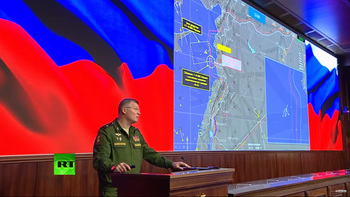Russia's presentation of its investigation into the downing of its plane, September 23, 2018.