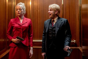 "Emma Stone and Jonah Hill in Netflix's ""Maniac."""