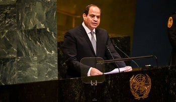 Egyptian President Abdel-Fattah al-Sissi delivers a speech to the United Nations General Assembly on September 25, 2018 in New York City.