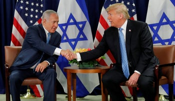 Trump and Netanyahu meet on the sidelines of the UN General Assembly in New York, September 26, 2018.