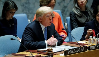 Trump chairs a UN Security Council meeting at UN headquarters in New York, U.S., September 26, 2018.