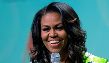 FILE PHOTO: Former first lady Michelle Obama speaks at the American Library Association annual conference in New Orleans, on June 22, 2018