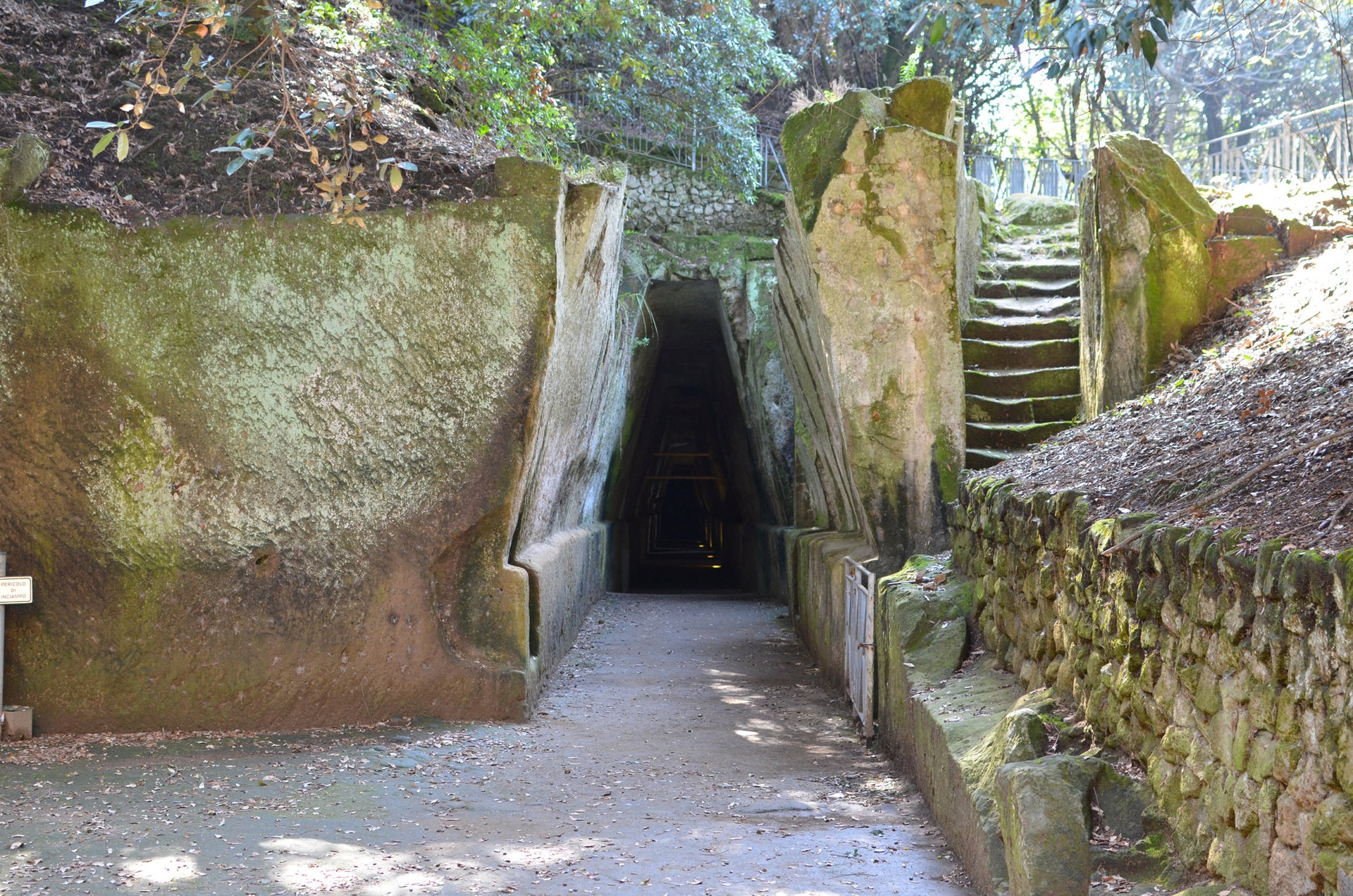 This cave in Cumae is thought to have been the seat of the Cumaean Sibyl
