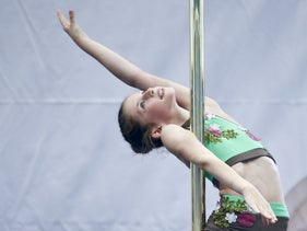 A girl competes at the Israeli pole-dancing championships. But don't you dare call it dancing! It's 'pole sports.'