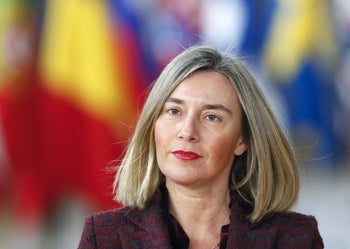 European Union High Representative for Foreign Affairs and Security Policy Federica Mogherini arrives at a European Union leaders summit in Brussels, Belgium, March 22, 2018