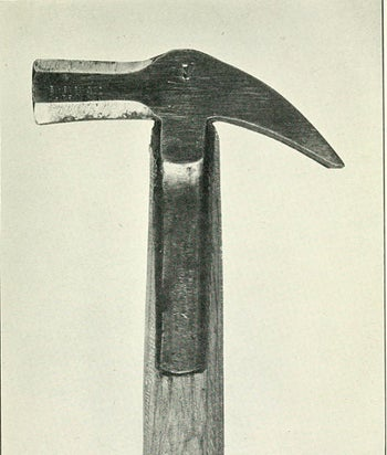 The hammer with which Oscar Slater was alleged to have murdered Marion Gilchrist. Sir Arthur Conan Doyle proved that the weapon didn't tally with the victim's injuries.