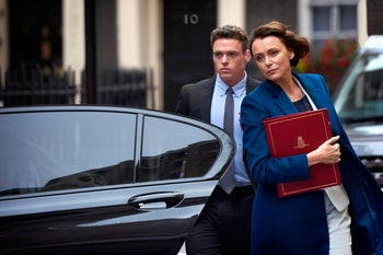 """Richard Madden and Keeley Hawes in """"Bodyguard."""""""
