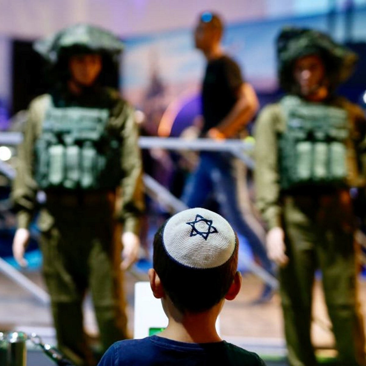 The 'Our IDF' exhibition in Holon.