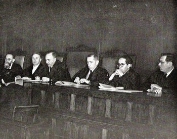 The Israeli High Court, 1952.