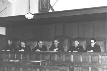 The Israeli High Court, 1953.
