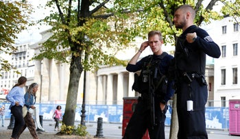 FILE PHOTO: Police officers in Berlin, Germany, September 16, 2018.