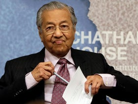 Malaysia's Prime Minister Mahathir Mohamad, Oct. 1, 2018.
