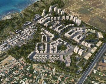An image of an urban development plant for Apollonia National Park in northern Herzliya