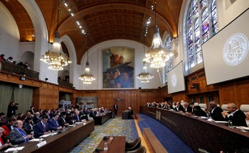 The International Court of Justice, the U.N.'s highest court for disputes between states, in The Hague, the Netherlands. October 1, 2018.