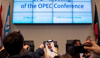 Saudi Arabia's energy minister and president of the Organization of the Petroleum Exporting Countries (OPEC), Khalid al-Falih, May 25, 2017.