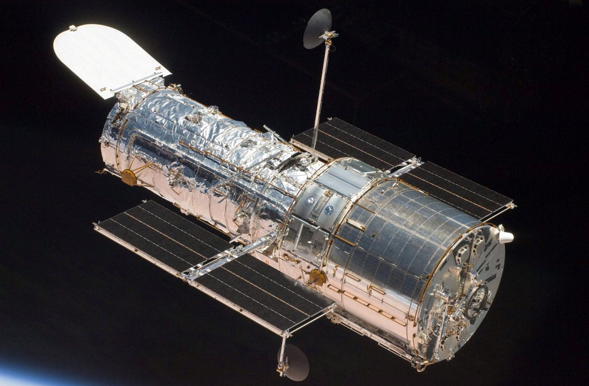 This image provided by NASA shows the Hubble Space Telescope after it's release from the Space Shuttle Atlantis Tuesday May 19, 2009
