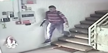 The Palestinian shooter seen fleeing the scene after opening fire at a factory in the West Bank on October 7, 2018.