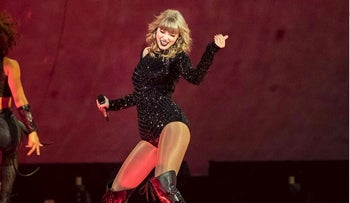 Taylor Swift performs onstage during the Reputation Stadium Tour at NRG Stadium on September 29, 2018 in Houston, Texas