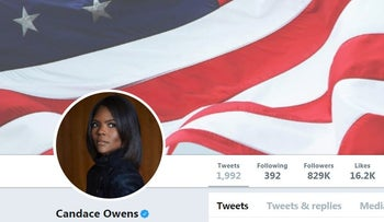 Image of Candace Owen's official Twitter account