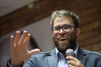 Likud lawmaker Oren Hazan at party convention in Tel Aviv, Israel, March 25, 2018