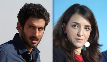 Tzachi Halevy and Lucy Aharish.
