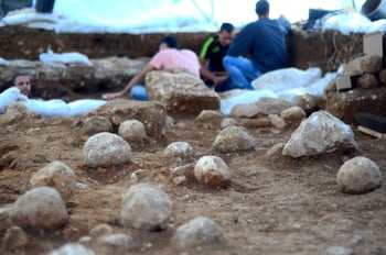 The Israel Antiquities Authority dig at Jerusalem's Russian Compound.