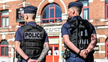 FILE PHOTO: Policeman in Lille, France, September 26, 2018.