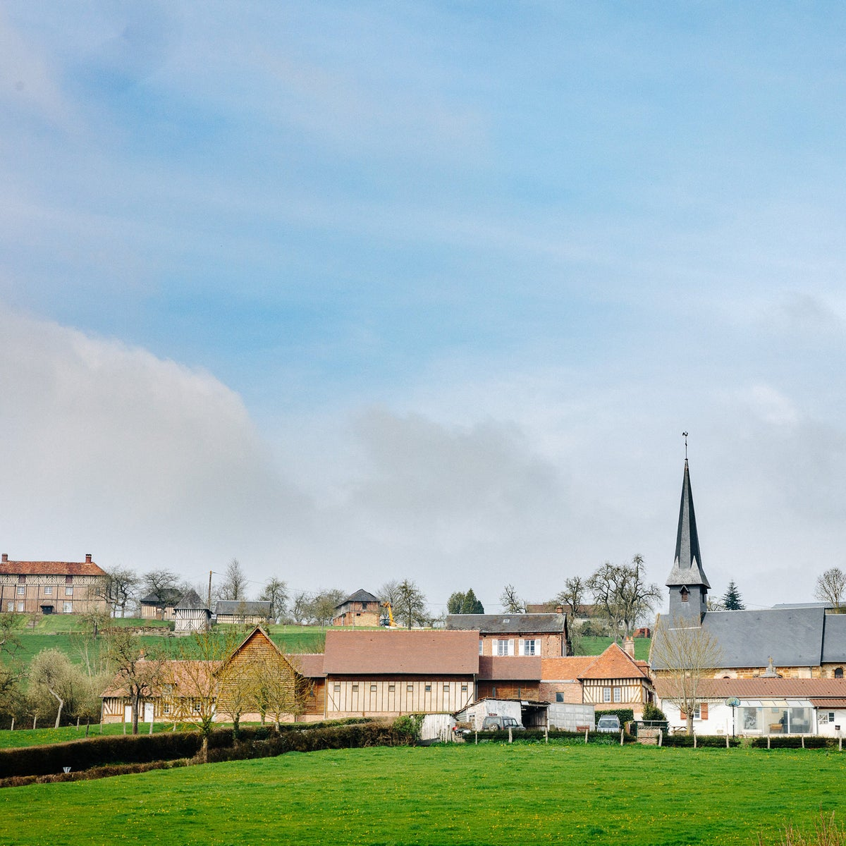 The village of Camembert in Normandy