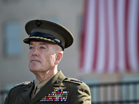 General Joseph Dunford, chairman of the Joint Chiefs of Staff, at a ceremony in Washington D.C., September 11, 2017