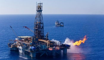 Offshore drilling at Leviathan