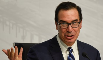 U.S. Treasury Secretary Steven Mnuchin speaks during a news conference at the G20 meeting of Finance Ministers and Central Bank governors in Buenos Aires, Argentina, July 22, 2018.