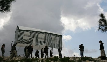 Israelis trying to resettle Homesh in the West Bank, which was evacuated in 2005 during the Gaza pullout.