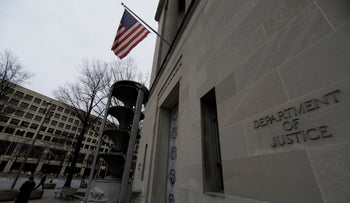 FILE PHOTO: The U.S. Department of Justice building is seen in Washington, U.S., February 1, 2018