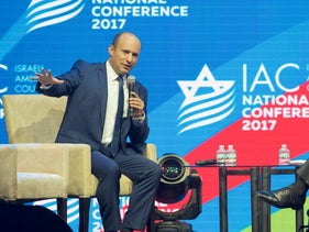 Naftali Bennett, Israel's minister of education and of Diaspora affairs, and leader of the Habayit Hayehudi party, at last year's Israeli American Council conference