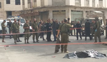 From the incident in Hebron, today.