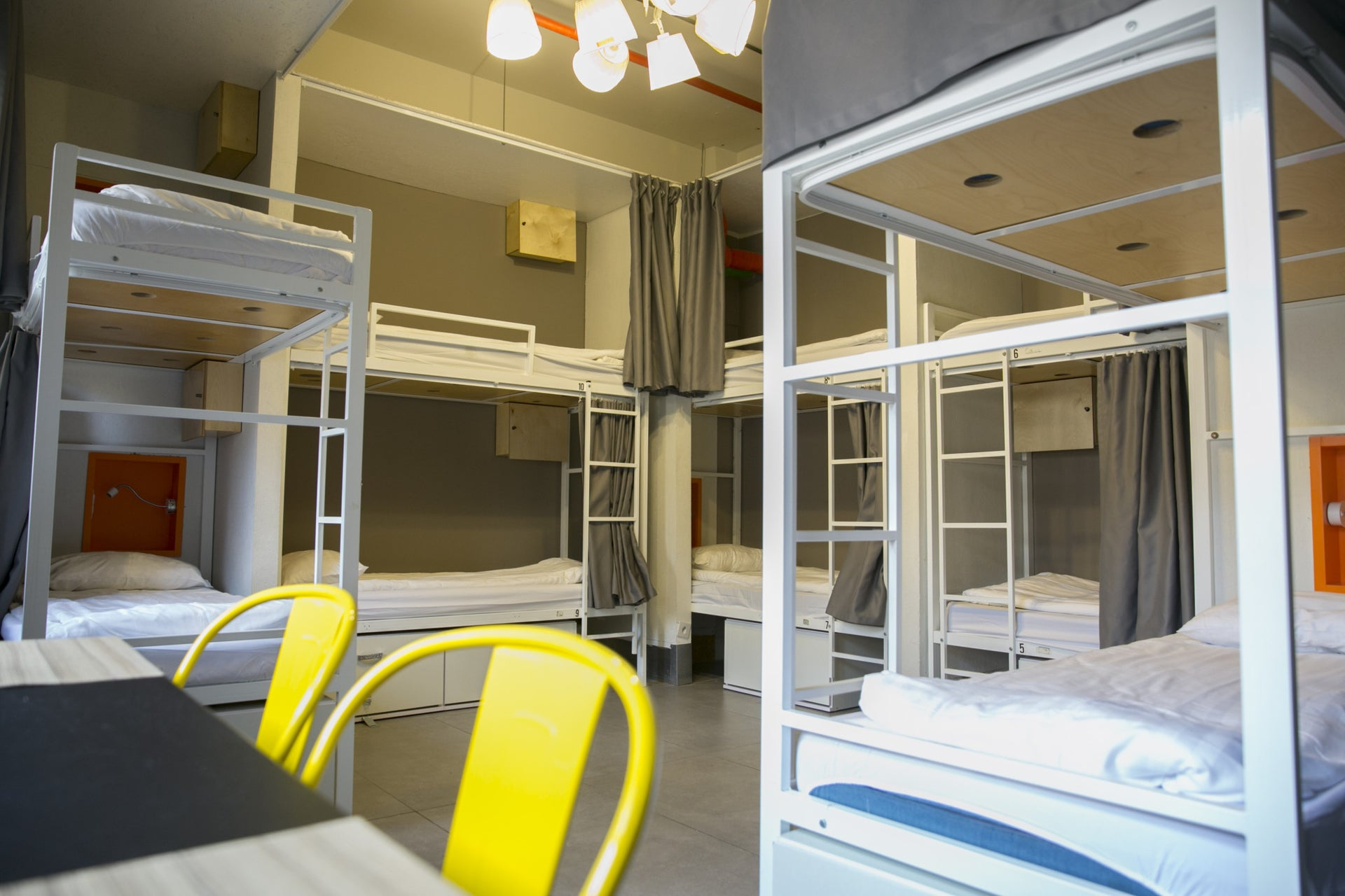 A shared room at the Post Hostel.