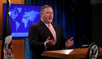 U.S. Secretary of State Mike Pompeo speaks to reporters during a news briefing at the State Department in Washington, U.S., October 23, 2018