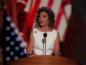 Representative Debbie Wasserman Schultz, a Democrat from Florida, speaks at the Democratic National Convention (DNC) in Charlotte, North Carolina, U.S., Sept. 4, 2012.