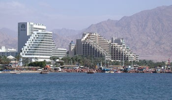 FILE Photo: Hotels in Israel's southern city of Eilat.