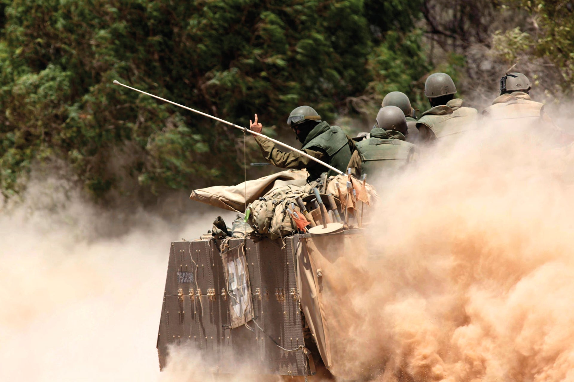 Israeli soldiers during Operation Defensive Edge.