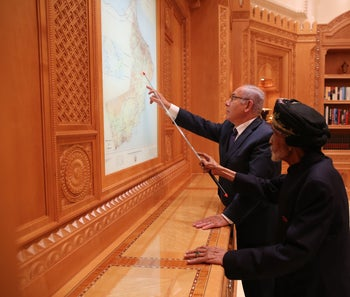 Netanyahu with the sultan of Oman